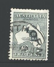 AUSTRALIA 3 SG3 Used 1913 2p gry Kangaroo Wmk Wide Crown Wide A Cat$10