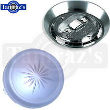 70-81 GM Models Interior Roof Dome Light Round Lens Cover & Reflector Base
