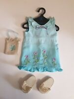 """American Girl Doll Genuine Clothes Outfit Blue Dress, Shoes Purse AG 18"""" Vtg Lot"""