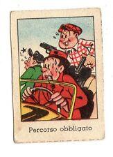FIGURINA NANNINA  TECNICOLOR 1° SERIE  APRILE  1947  VILLY PERCORSO OBBLIGATORIO