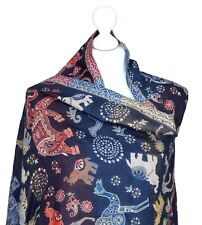 Reversible Multicolour Elephant Camel Shawl Wrap Womens Winter Animal Gifts Her