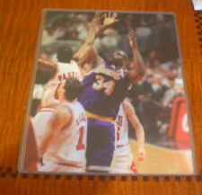 """SHAQUILLE  O'NEAL PHOTO 8"""" x 10"""" GLOSSY COLOR L.A. LAKERS IN TOP LOADER"""