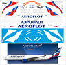 350900-02 PAS-DECALS AIRBUS A-350-900 AEROFLOT AIRLINES  LASER DECAL 1/144 NEW
