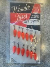 Vintage Acme Wonderlures Full Dealer Display Card Orange