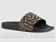 fb086d398a07a GUCCI mens 7G  CALEIDO GG Supreme PURSUIT slides FLIP-FLOPS shoes NIB  Authentic!