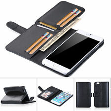 New 7 Card Holder Flip Wallet Leather Case Cover For Apple iPhone 6 Plus