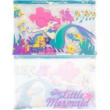 Disney The Little Mermaid Ariel Clear Pencil Case Cosmetic Tote Bag Makeup Bag