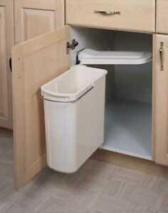Rev-A-Shelf 8-700411-20 20 Liter Sink Base Container - Polymer-White