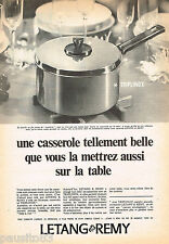 PUBLICITE ADVERTISING 055  1966  LETANG & REMY  casserole TRIPLINOX