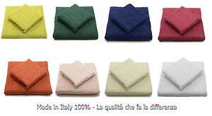 Coppia Asciugamani di spugna, 100% cotone - set bagno asciugamano viso + ospite