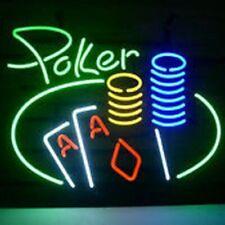 "New Poker Casino Bar Beer Man Cave Bar Neon Light Sign 20""x16"""