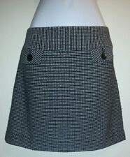 GAP Pencil Skirt Black + White Tweed Career Office Lined Work Wool Blend Sz 4