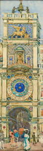 Maurice Prendergast Clock Tower Poster Reproduction Giclee Canvas Print