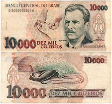 Brazil 10000 Cruzeiros P#233a (1991-93) Banco Central do Brasil VF