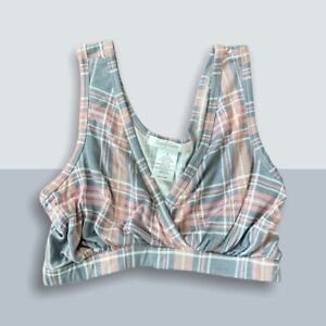 Everly Grey NWT Plaid Lounge Maternity Bralette Women's Size Small