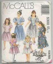MCCALLS 5300 GIRLS DRESS SEWING PATTERN SZ 4  FLOWER GIRL PARTY DRESS VERY CUTE