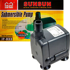 Aquarium, Fountain Submersible Water Pump 160 gph; Premium AAP/SunSun JP-033