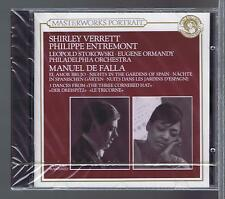 MANUEL DE FALLA CD (NEW) MASTERWORKS E. ORMANDY EL AMOR BRUJO S.VERRETT