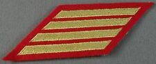 US Marine Corps Female Service Stripes 16 Years Gold On Scarlet New Pair