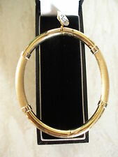 9 CARAT YELLOW GOLD ITALIAN MADE BANGLE BRAND NEW IN BOX PURE QUALITY