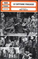 LE CAPITAINE FRACASSE - Gravey,Gance (Fiche Cinéma) 1943 - Captain Fracasse