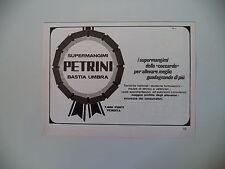 advertising Pubblicità 1970 SUPER MANGIMI PETRINI - BASTIA UMBRA