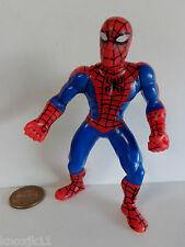 """1996 SPIDERMAN ACTION FIGURE 3.5"""" Cake Topper Figurine Toy Arms & Waist Rotate"""