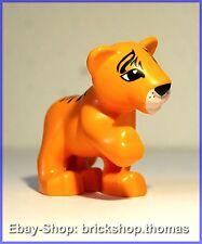 Lego Duplo Tiger - 54300cx4 - Tiger Cub, Raised Paw Orange - NEU / NEW