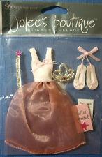 NEW 5 pc BALLERINA PRINCESS Tutu Toe Shoes Ballet Recital JOLEE'S 3D Stickers