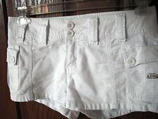 Aeropostal white shorts juniors 1/2 hot pants ladies low rise hip hugger womens