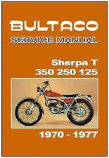 BULTACO Workshop Manual Sherpa T 350 250 1970 1971 1972 1973 1974 1975 1976 1977