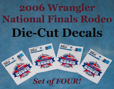 """Official """"2006 NFR"""" Logo, die-cut Decals; Set of FOUR - Classic Collectible;PRCA"""
