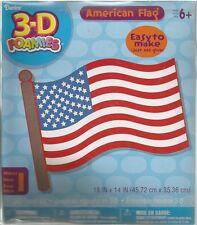 3-D Foamies American Flag Kit 18 x 14 inch   B40* 4th of July Kids Crafts