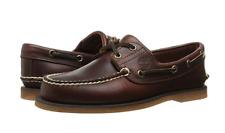 New Timberland Men's Classic 2-Eye Boat Shoe - 7.5 W/L Wide - Brown full Grain