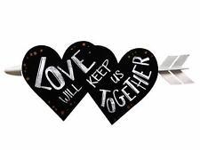 """COLGANTE MADERA DE CORAZONES """"LOVE"""" (10916)"""