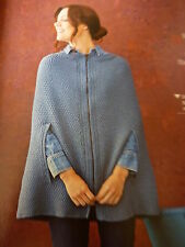 Knitting Pattern Lady's Gorgeous Cape In A Soft Alpaca Aran Yarn In 6 Sizes