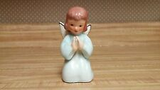 Ardalt 6326A praying angel/girl; blue gown, white wings/gold accent, brown hair