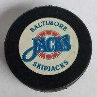 BALTIMORE SKIPJACKS HOCKEY PUCK AHL INGLASCO CANADA SPORTS MEMORABILIA OFFICIAL