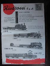 CATALOGUE FRANCAIS 8 PAGES RIVAROSSI 1957 TRAINS  ET ACCESSOIRES HO