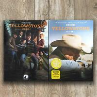 Yellowstone Seasons 1 & 2 (DVD, 2019, Region 1)Fast shipping First Class Mail