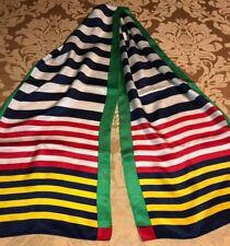 Echo Striped Silk Scarf