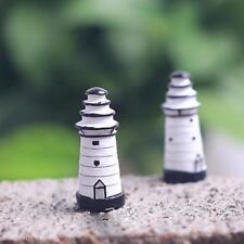 Mini Craft Miniature Garden Lawn Ornaments Lighthouse Watchtower Tower Décor