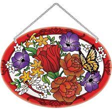 Joan Baker Designs hand painted Suncatcher-LO195R-Jewel Bouquet art glass new