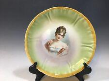 """Vintage 'Madame Recamier' Franz Alt. Mehlem Bonn Germany Plate - 8 1/2""""D"""