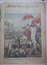 LA DOMENICA DEL CORRIERE 16 Febbraio 1936 Negus Etiopia Eritrea Somalia Colonie