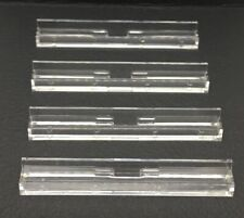 Vintage 1976 SCRABBLE Travel Game Replacement Pieces Set Of 4 CLEAR TILE RACKS