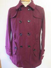 Ladies Calvin Klein shaped Winter coat M UK 12 Euro 40 Burgundy