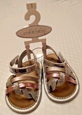 New Koala Baby Metallic Silver Gold Rose Gold Sparkles Sandals Size 1