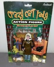 ACCOUTREMENTS CRAZY CAT LADY ACTION FIGURE WITH 6 PVC CAT FIGURES