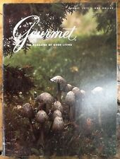 Gourmet magazine August 1979 mushrooms recipes Mexican Chinese food QE2 menu